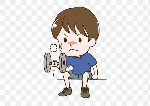 男人做肌肉訓練