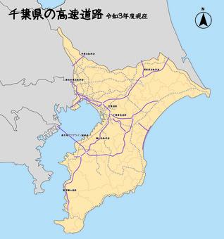 千葉縣千葉高速公路日本地圖