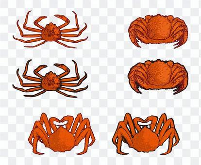 Crab set material