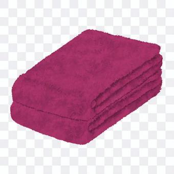Burgundy towel