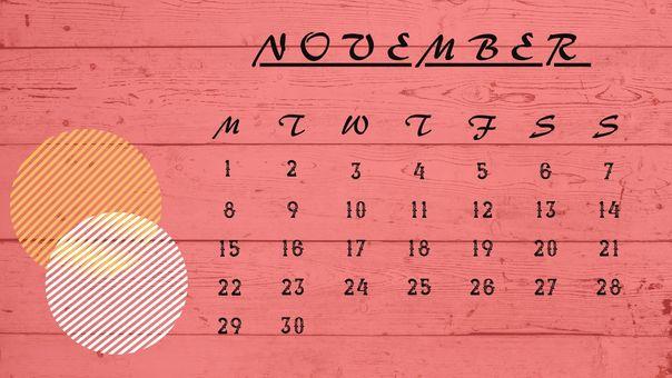 日曆 ① [2021 年 11 月]