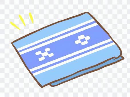 沖縄のミンサー柄 青