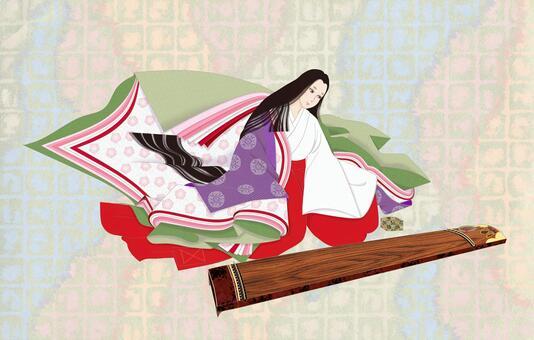 十二単女房装束〜琴 和紙市松
