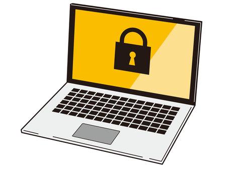 鎖定的筆記本電腦