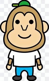 猿Tシャツ