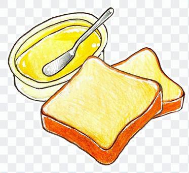 食パンとマーガリン