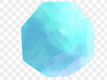 淺藍色寶石切割