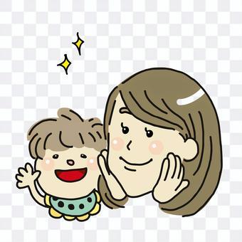 媽媽和寶寶的插圖