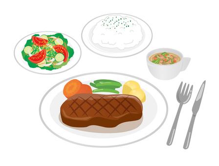 Set_Steak 02 Rice
