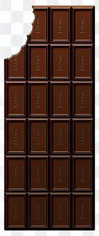 骯髒的板巧克力(垂直)