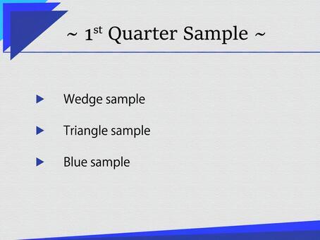 Business template blue triangle edge 2