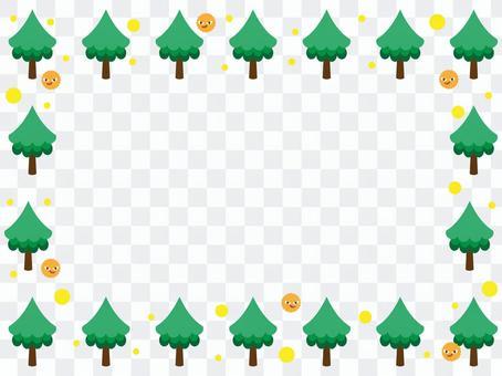 나무와 꽃가루 프레임