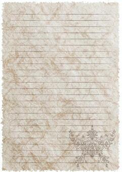 カード-レター用紙-アラベスク