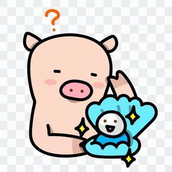 ことわざのイラスト:豚に真珠