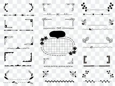 手繪單色框架/線組