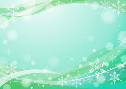 雪水晶框架綠色
