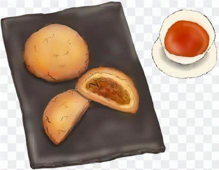 台湾菓子チャーシューメロンパン(叉焼)