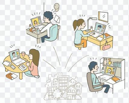 オンラインで繋がる人々
