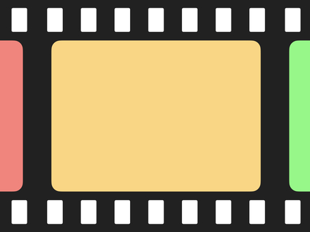 Simple colorful film frame (large)