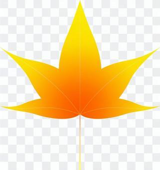 aiオレンジ色のカエデ3・1点