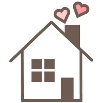 房子可愛的窗口柔和的心