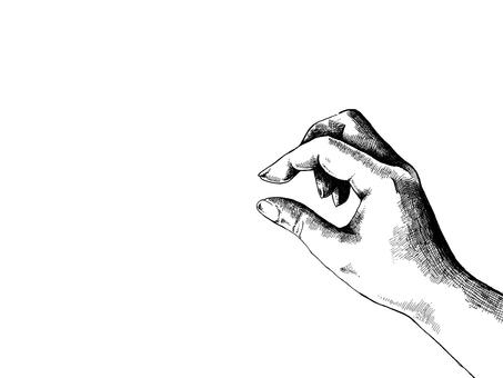 Hand line drawing Illustration - Pinch -