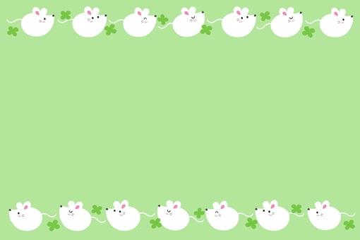 圓形鼠標框/白色/綠色