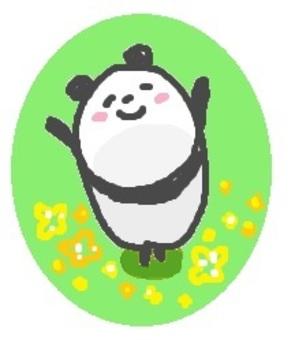 """熊貓""""花田"""""""