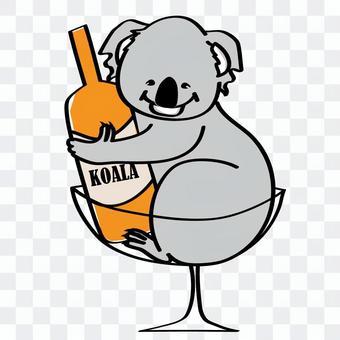 Bottle and koala