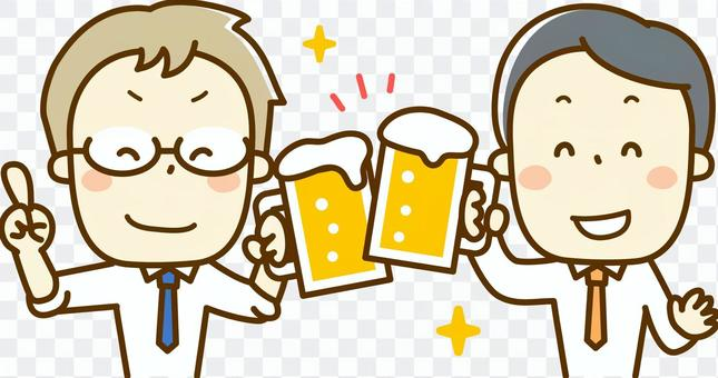 Salary man's drinking party