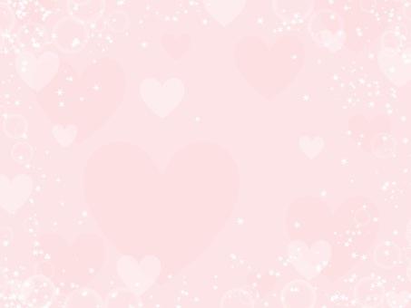 Gentle pink glitter heart background