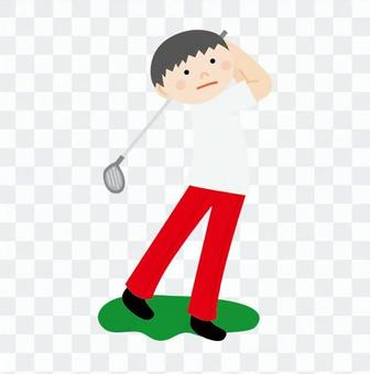Men who play golf