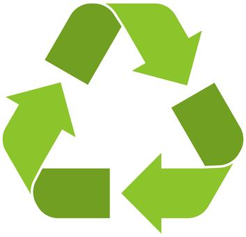 Arrow cycle triangle green