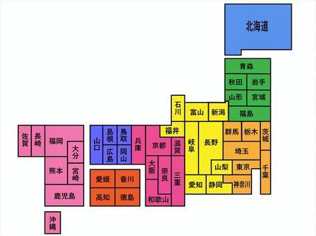 日本的簡單地圖