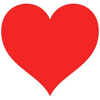 心美麗的心紅色