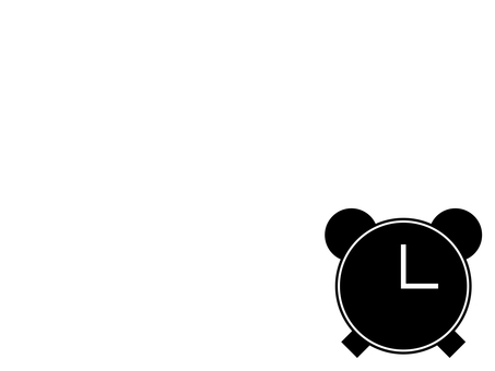 Alarm clock icon: Black: No scale