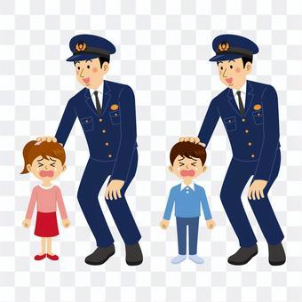 警察和失散的孩子