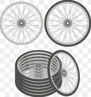 自転車タイヤセット