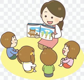 幼兒園老師_讀圖畫書02
