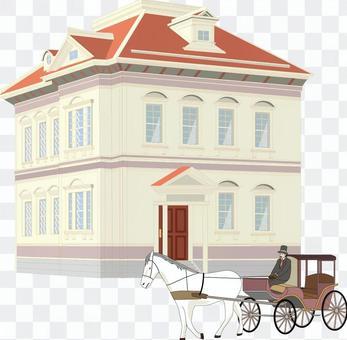 家 建物 レトロ 外国 昔 馬車 西洋