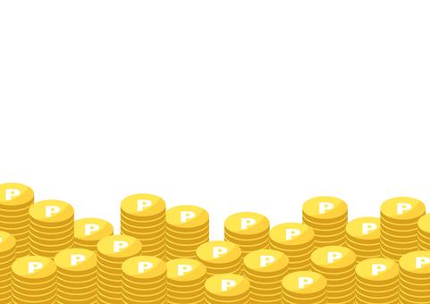 一堆金幣的插圖
