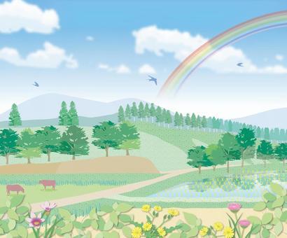 Yamazato landscape Country illustrations