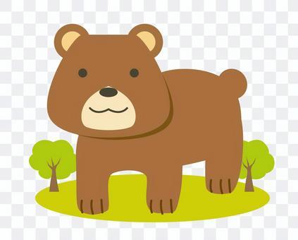 可愛熊動物