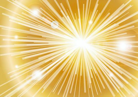 CG光線集中線 - 金色