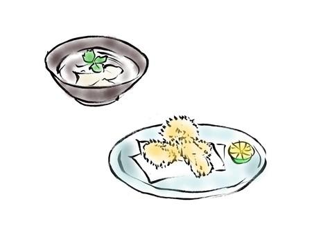 炸松茸蘑菇湯