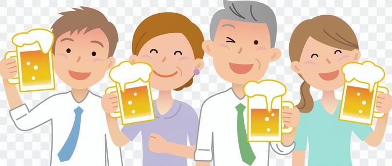 70615. 4 boys and girls, beer garden