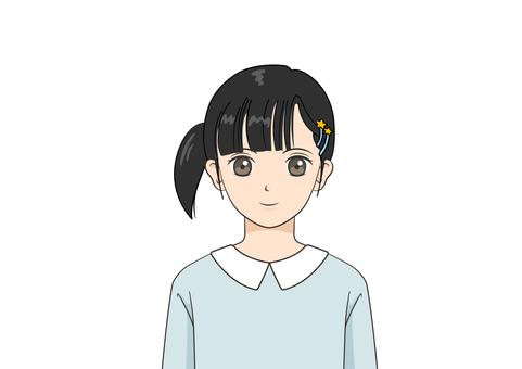 微笑的女孩兒