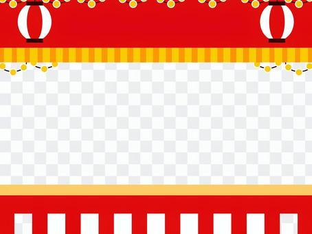 節日商店颱風框架