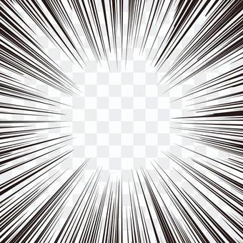 集中線・効果線(漫画)素材☆線細☆正方形