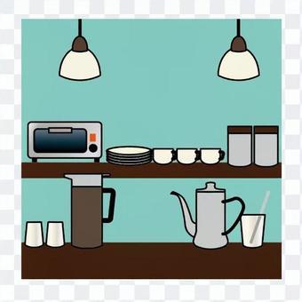 Kitchen / coffee shop